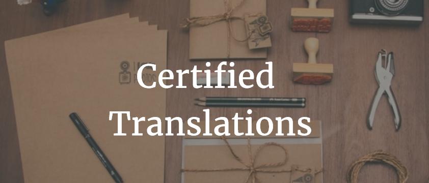 O que é uma tradução certificada?